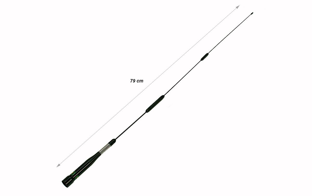 NAGOYA SP80B Antena Bibanda VHF/UHF 144/430 mHz con muelle, cubre desde 140-150 /430 460 mhz color negro