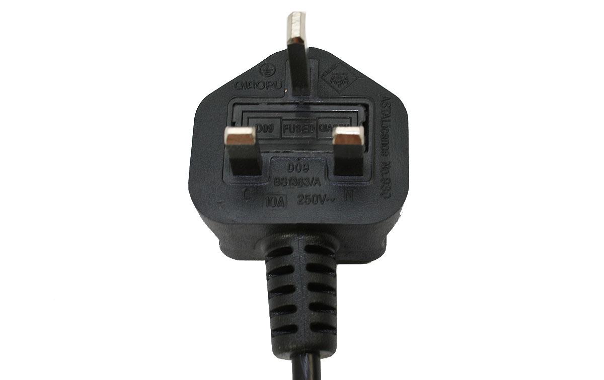 SPC-G-IEC Cable para toma de corriente tipo G para Reino Unido y conector de alimentación IEC