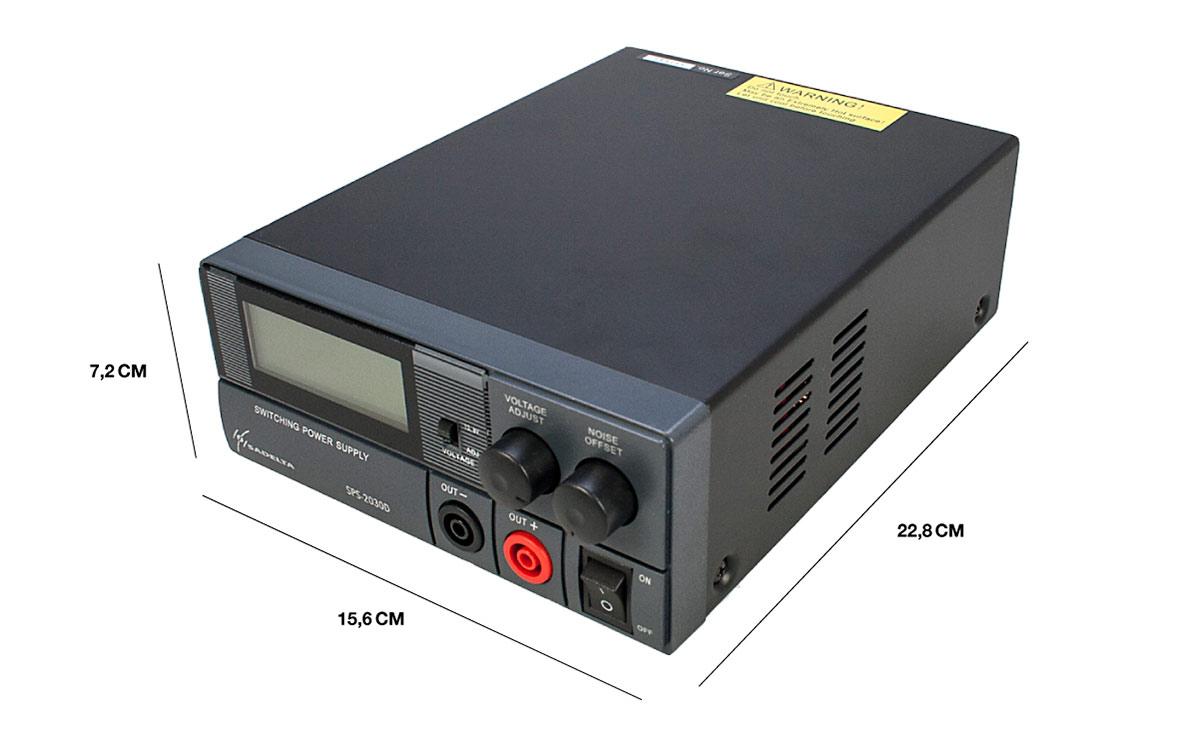 sadelta sps-2030 fuente alimentación conmutada 20 amp regulable 9-15 v
