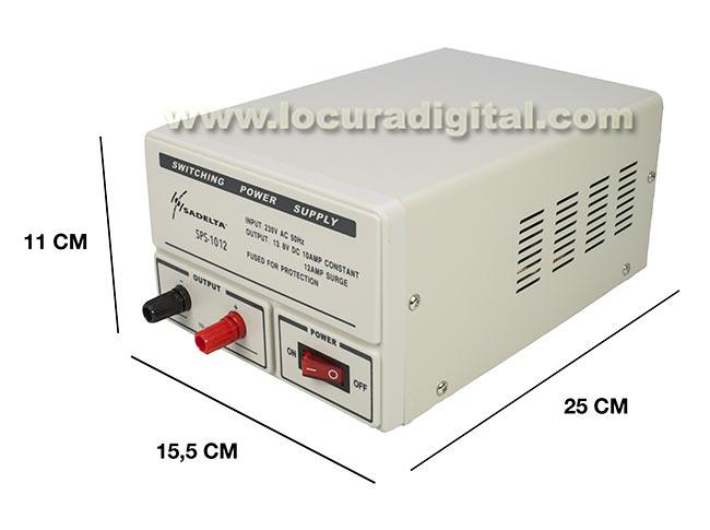 SADELTA SPS 1012 fuente de Alimentación conmutada 13,8 volt. 10 a 12 amperios