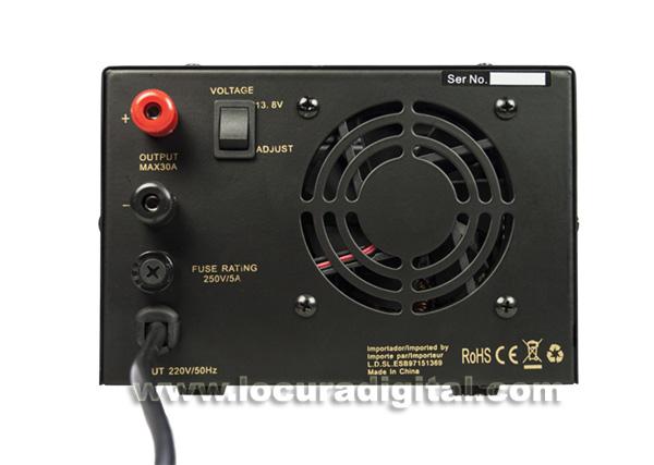 SADELTA SPS 3035 Fuente Alimentación Conmutada ajustable 10 a 16 voltios / 30 35 amperios.