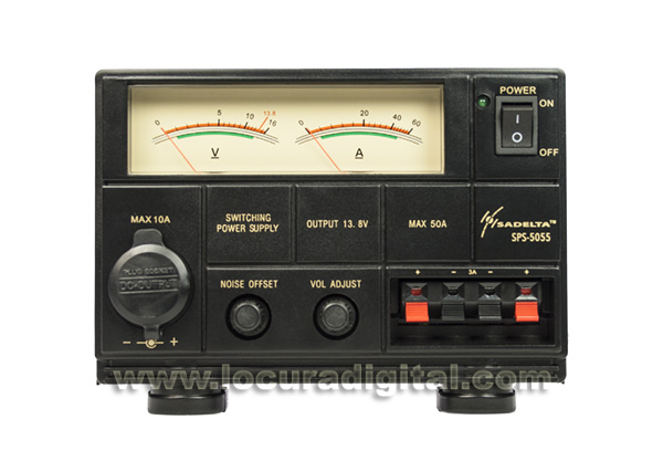 sadelta sps-5055 fuente alimentación conmutada 220v/13,8v. 50-55 amperios.