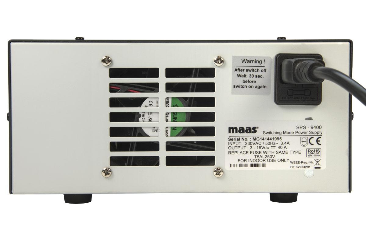 sps 9400 fuente alimentacion conmutada 230 v regulable 3 15v 40 amp.