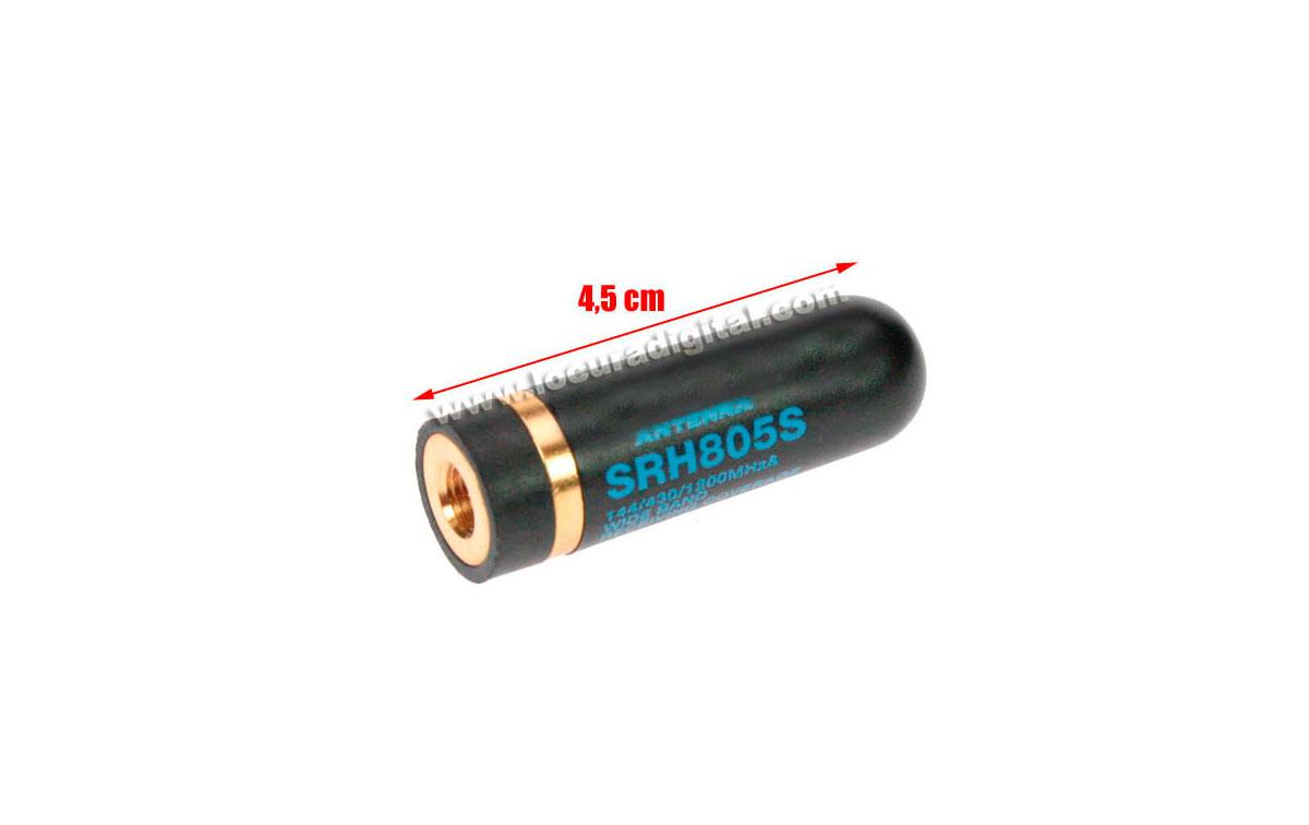 SRH805HOX HOXIN antena tri-banda 144-430-1200 Mhz. SMA 4,5 cms CONECTOR SMA