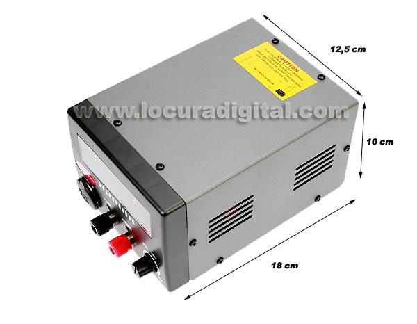 Protección contra cortocircuito y sobre-tensión. Dispone de ventilador. Led indicador de encendido y led indicador de emergencia.