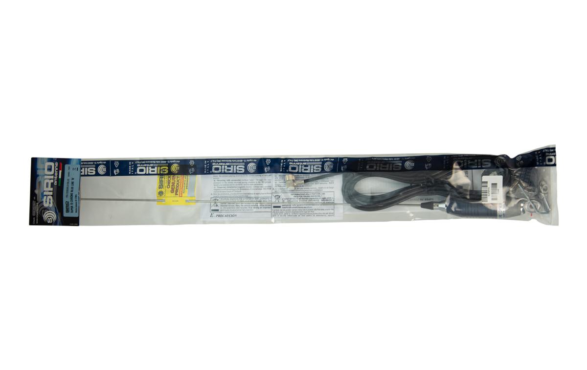 sirio super 70 antena cb 7 mhz. 700 mm. con cable y base tipo palomilla