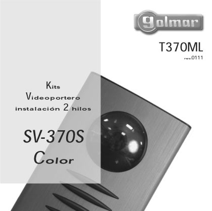 KIT SURF-7-SV-370-S COLOR VIDEO PORTERO  SOLO CON DOS HILOS DEDE  !! FACIL INSTALACION !!