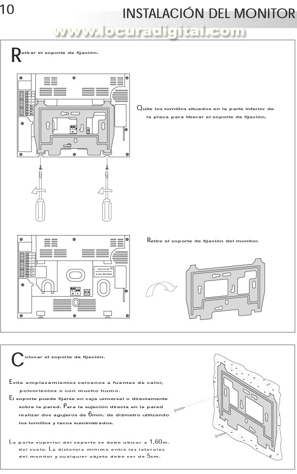 Kit surf 7 sv 370 s color video portero solo con dos hilos - Instalacion de videoportero ...