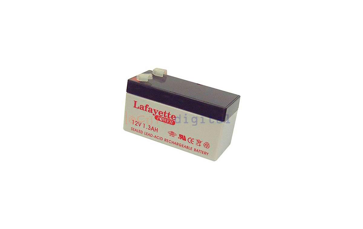 SW 1213  BATERIA DE PLOMO RECARGABLE Lafayette Power VOLTAGE 12 V. Capacidad 1,3 amperios. Terminal: