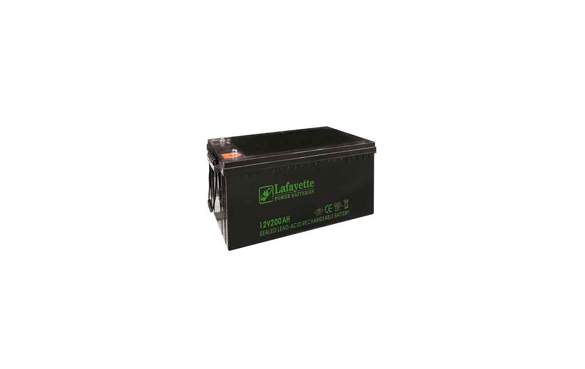 SW-122000 BATERIA DE PLOMO RECARGABLE Lafayette Power VOLTAGE 12V. Capacidad 200 amperios. Terminal: