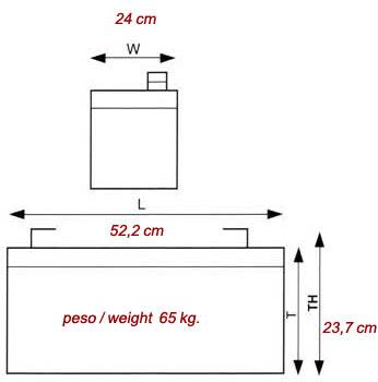 SW-Power 122 000 Lafayette TENSÏ Bateria Recarreg?l LEAD 12V. Capacidade para 200 amp. Terminal: T11 e T19