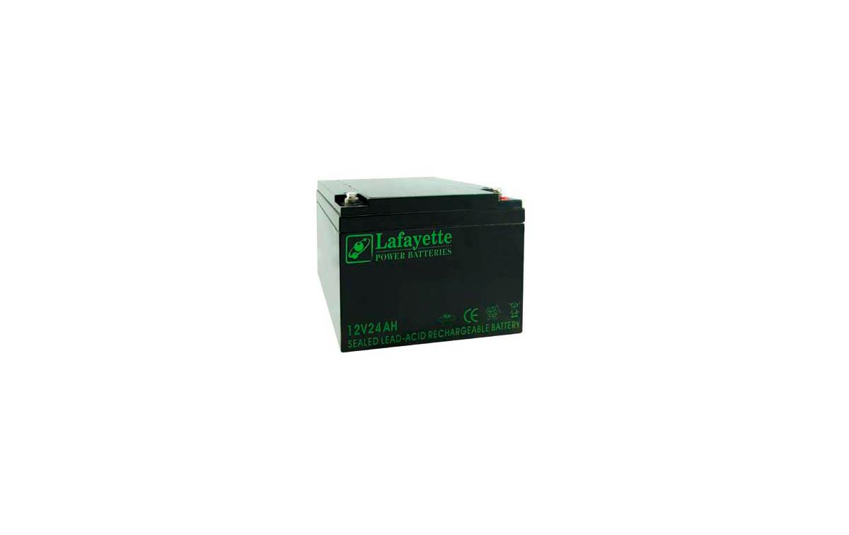 SW-12240 BATERIA DE PLOMO RECARGABLE Lafayette Power VOLTAGE 12V. Capacidad 24 amperios. Terminal: T