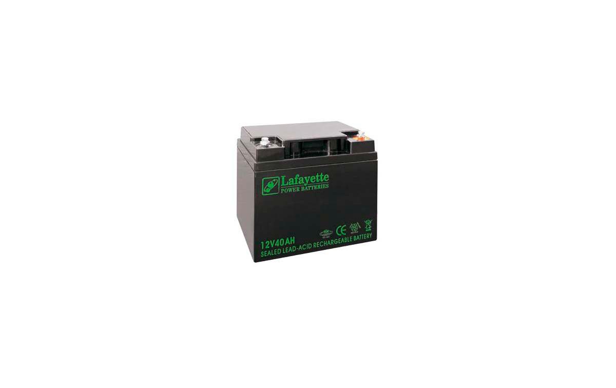SW-12400 BATERIA DE PLOMO RECARGABLE Lafayette Power VOLTAGE 12V. Capacidad 40 amperios. Terminal: T
