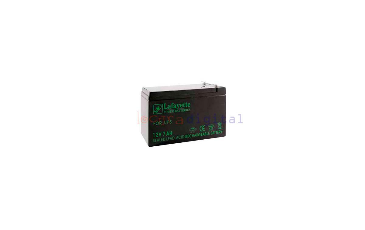 SW 1270/2 BATERIA DE PLOMO RECARGABLE Lafayette Power VOLTAGE 12 V. Capacidad 7 amperios. Terminal: