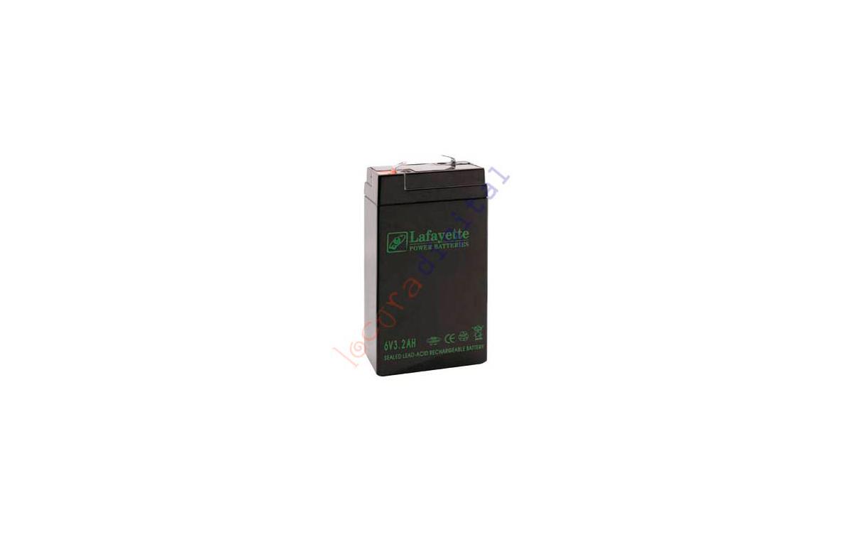 SW 632 BATERIA  DE PLOMO RECARGABLELafayette Power VOLTAGE 6 V. Capacidad 3,2 amperios. Terminal: T1