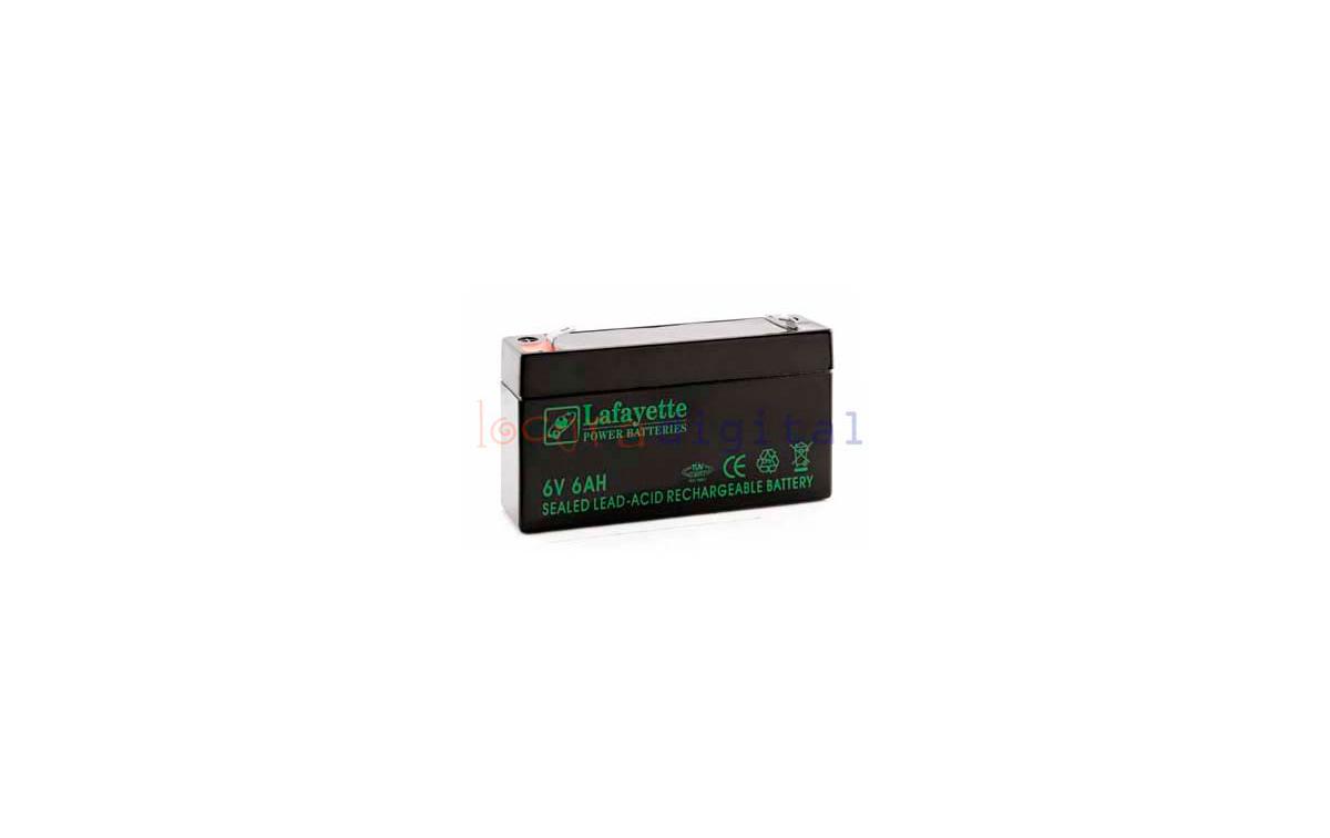 SW 6603 BATERIA  DE PLOMO RECARGABLE Lafayette Power VOLTAGE 6 V. Capacidad 6,0 amperios. Terminal: