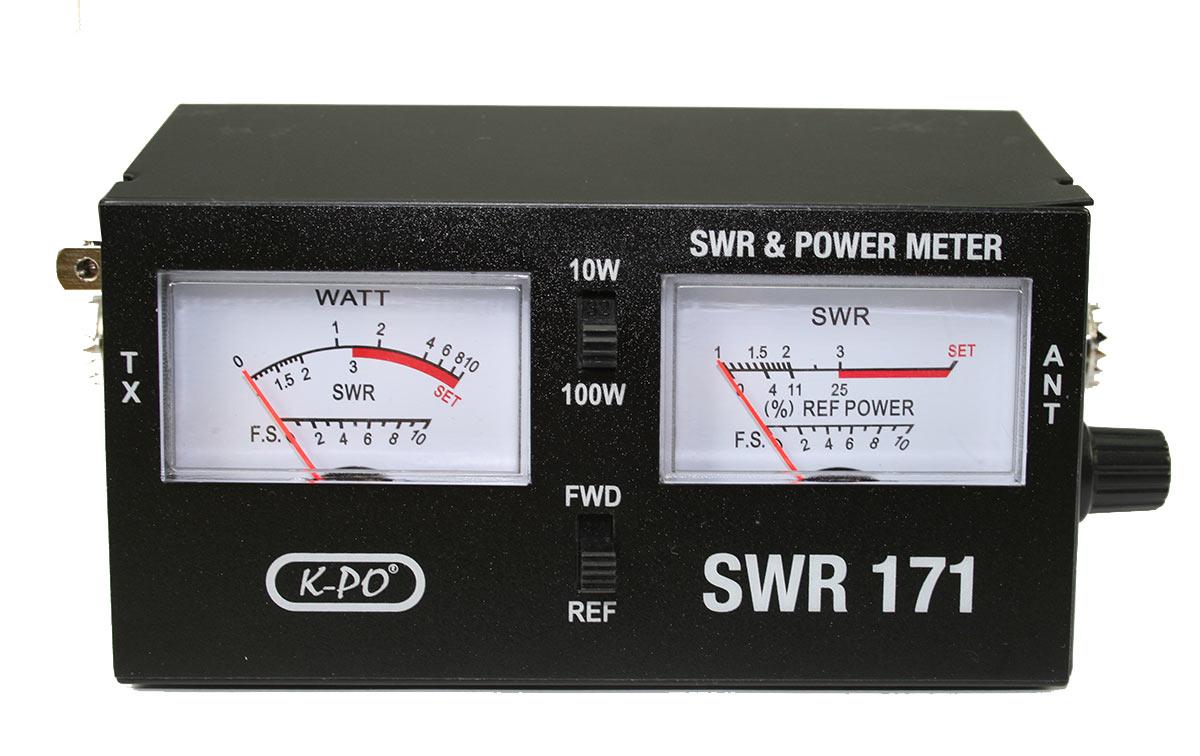 K-PO SWR-171 Medidor ROE y watímetro para CB, con 2 instrumentos