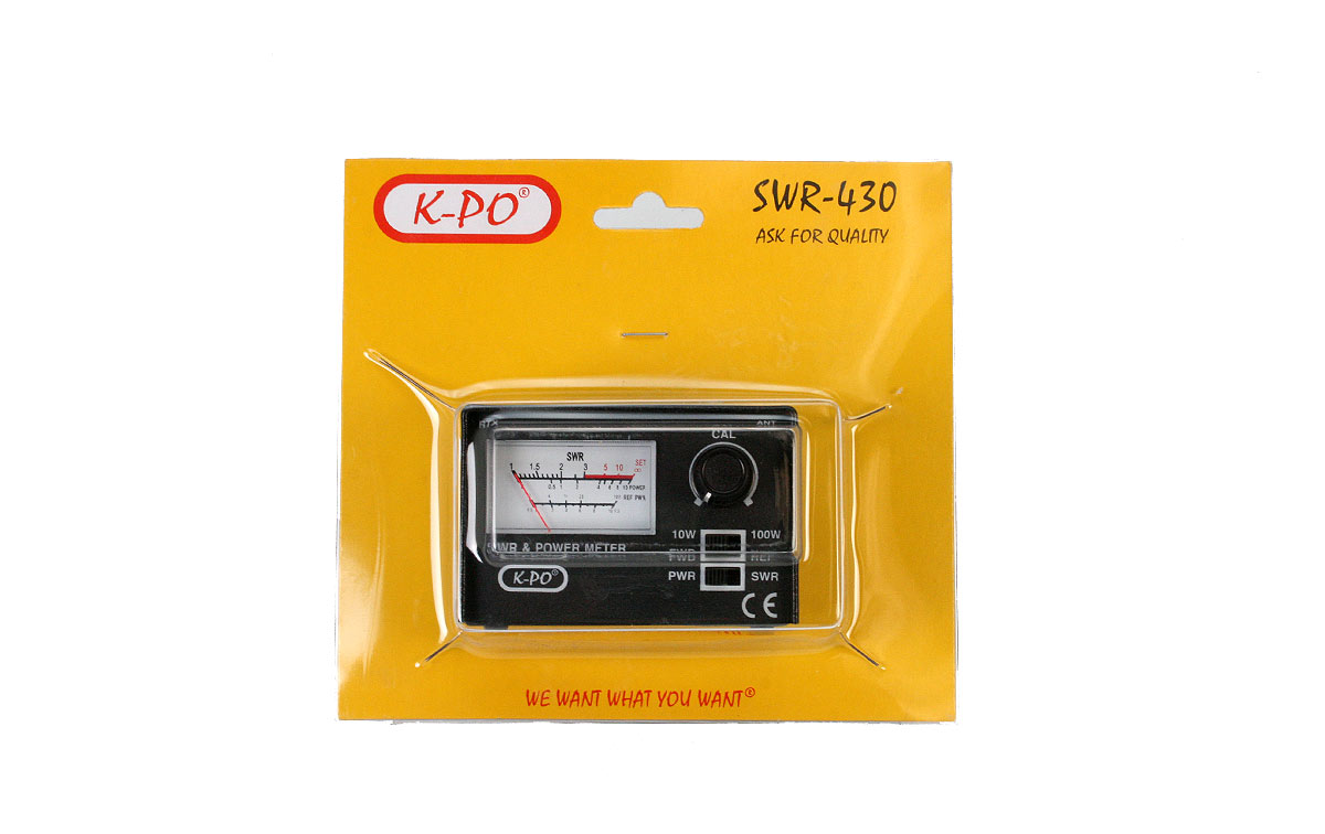 KPO Medidor R.O.E. / Watimetro 100 w. 26-30 Mhz.