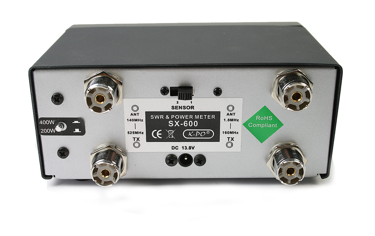 SX-600 Medidor R.O.E. / Watimetro hasta 200 w. 1.8 - 525 MHZ