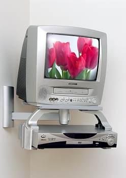 SYSTEM PLUS PLATA.  SOPORTE PARA VIDEO DVD ETC..  Es un adaptador para todos los  soportes  MONOMAGIX ,BIMAGIX , TRIMAGIX - MONOSFERO , BISFERO ,TRISFERO.