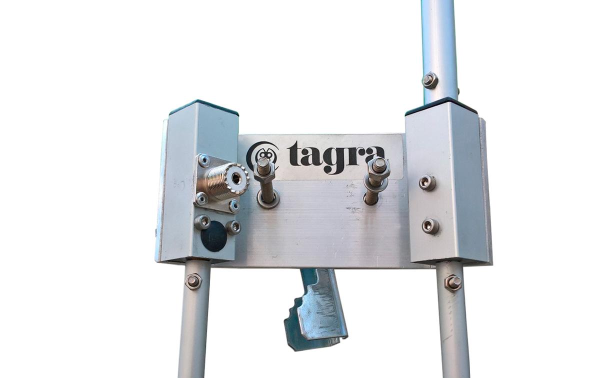 Tagra BT-101 Antena de base CB 27 mhz tipo bailarina, antena de alto rendimiento famosa por su alto rendimiento en CB