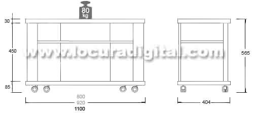 modelo tanger 110 mesa para lcd, plasma de 42 a 50 pulgadas - color negro