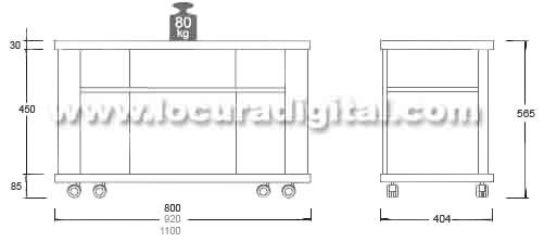 modelo tanger 80 mesa para lcd, plasma de 26 a 29 pulgadas - color negro