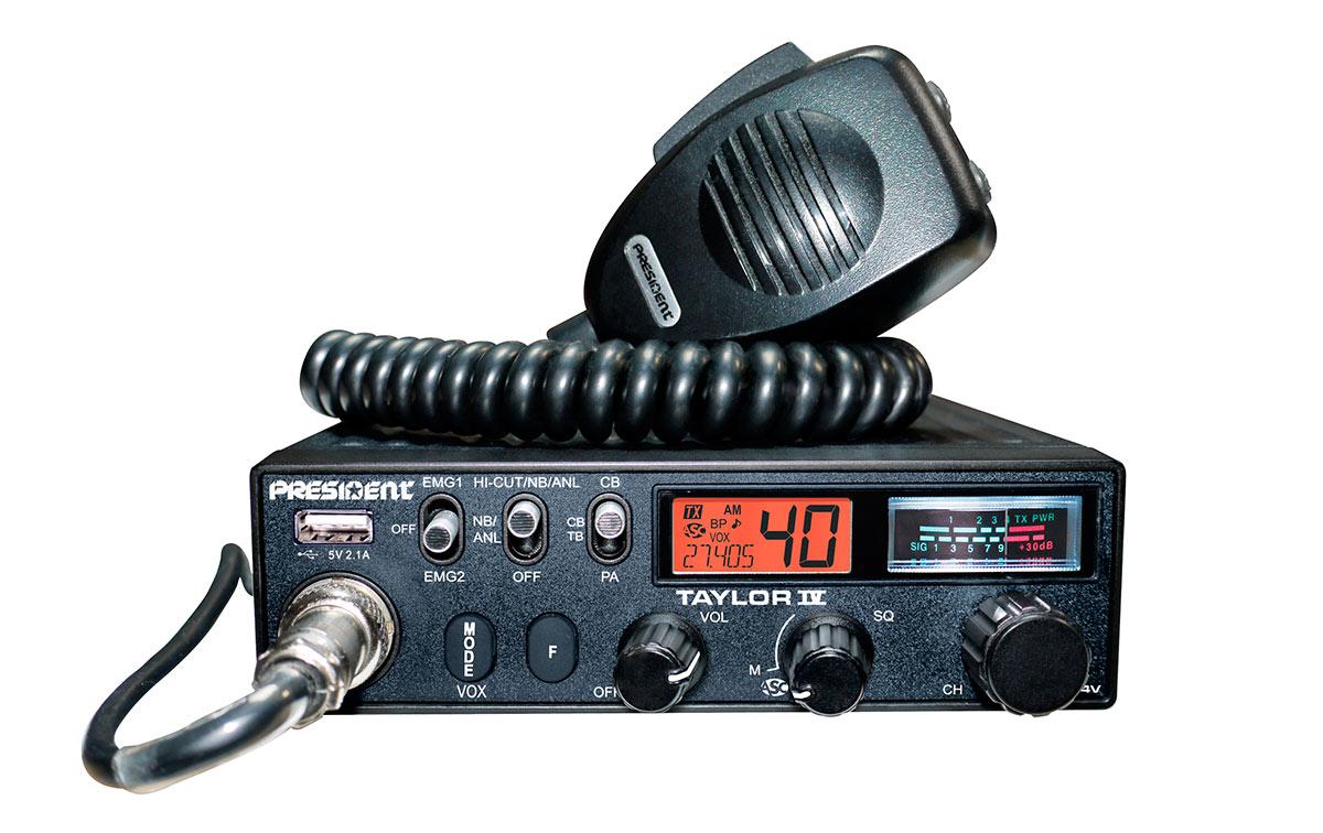 President TAYLOR-IV Emisora CB puede funcionar con 12/24 voltios 40 canales AM/FM/
