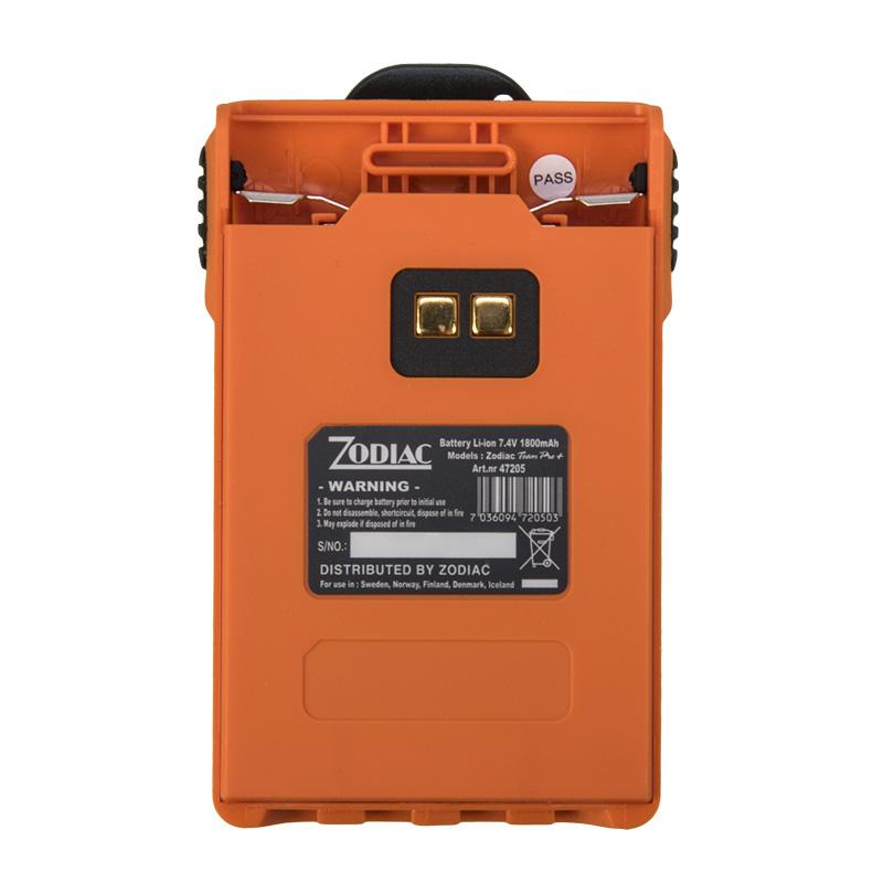 z47205 zodiac batería li-ion 7,4 volts. 1800 mah. proline , team pro , e-tech iris, safe. color naranja