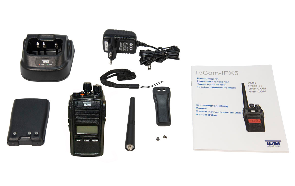 tecom pr-8090 walkie de caza uhf sin teclado ip67