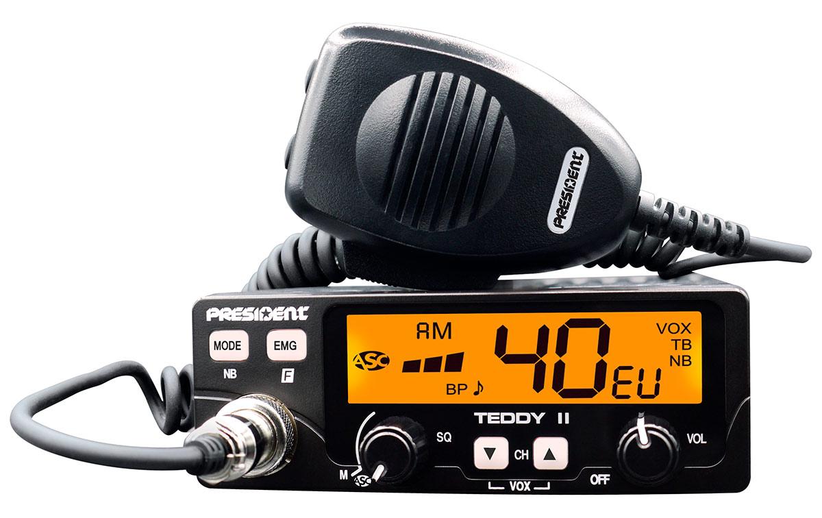 president teddy-ii-asc emisora am / fm 40 canales cb 27 mhz