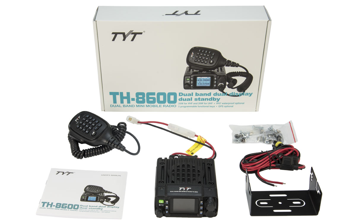 tyt-th8600 uv emisora movil mini bibanda vhf/uhf
