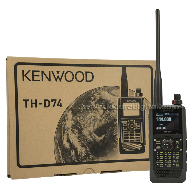 kenwood th d74 walkie bibanda 144/ 430 mhz regalo pinganillo pin19k