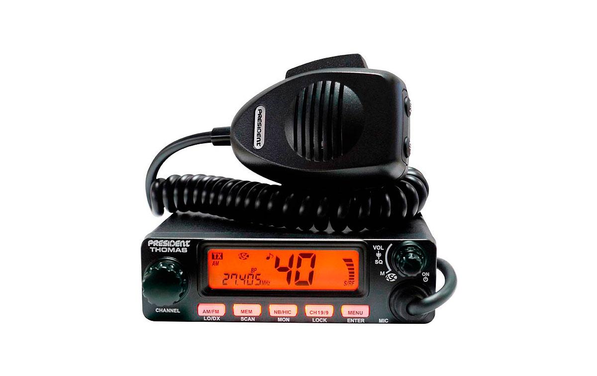 THOMAS PRESIDENT emisora  40 canales AM / FM CB 27 Mhz.