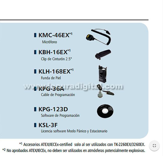 kenwood tk3260exe2 portàtil atex uhf 440-470 mhz - bateria atex li-ion 1030mah knb64lex 1,2w 16 canales