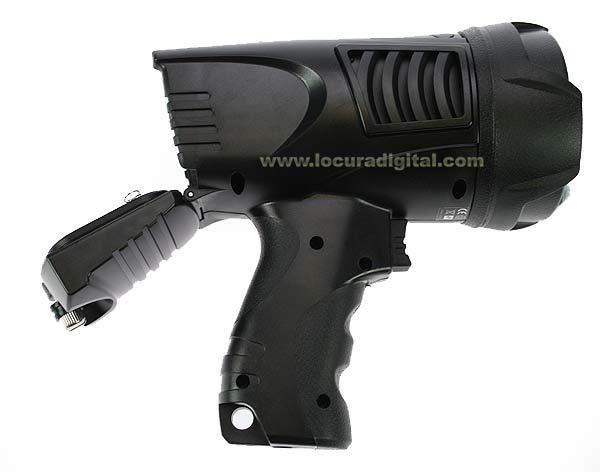 TL200 LAFAYETTE Linterna tipo pistola de 3 acciones, alta luminosidad 200 lumen