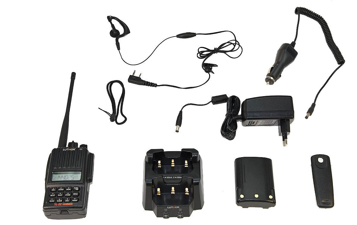 LUTHOR TL-22 HAMMER Walkie monobanda VHF144-146 Mhz. Proteccion al agua IP-65