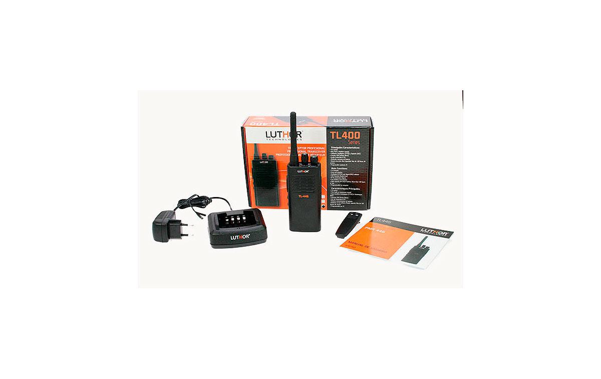 LUTHOR TL446MT  Walkie frecuencias compatible con Motorola XTNI, XT-220 y XT-420  + regalo pinganill
