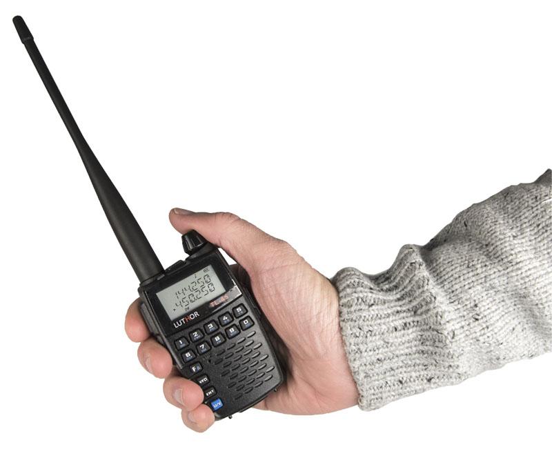 luthor tl 45 walkie doble banda vhf/uhf, 2 wats. tamaño reducido !! regalo de pinganillo pin19t5 !!