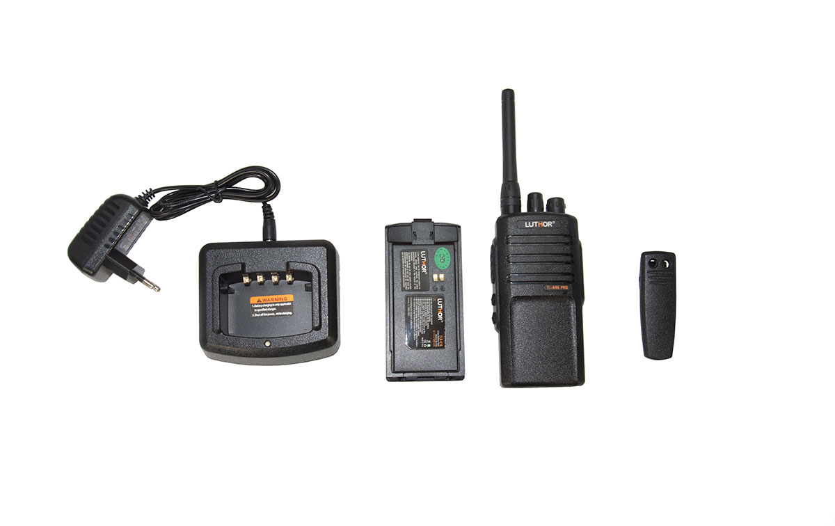 luthor tl446 walkie frecuencias compatible con motorola xtni, xt-220 y xt-420 regalo pinganillo pin19m