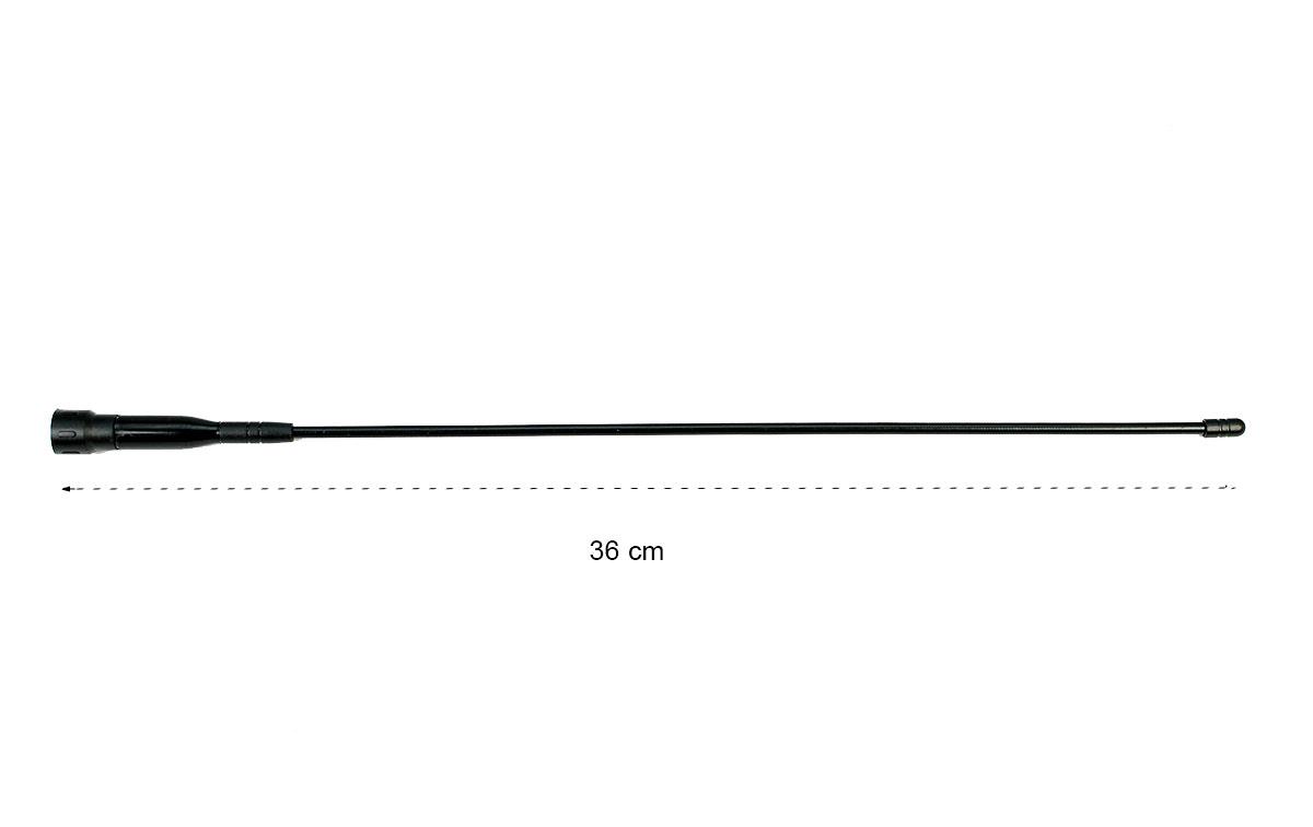 TLA-36 VHF Antena original de LUTHOR banda VHF con conector SMA y longitud de 36 cm