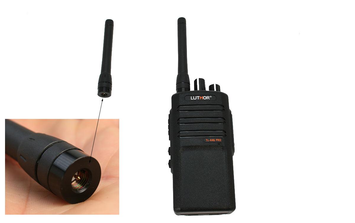 Luthor TLA-448PRO Antena Recambio originial para walkie TL-446 PRO