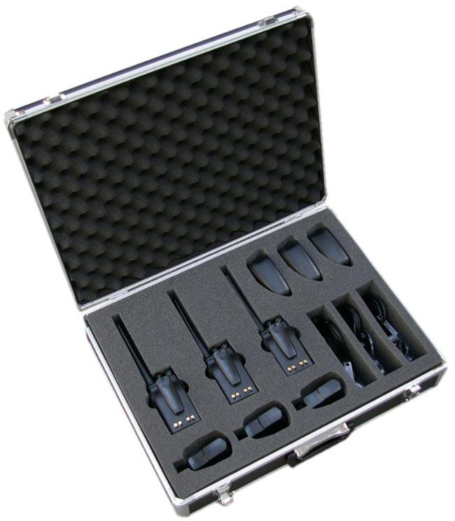 luthor tlcase03 aluminium case for walkies luthor 3 units, etc..