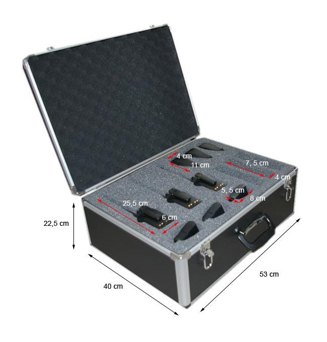 aluminium case tlcase06 luthor black for 6 units luthor walkies
