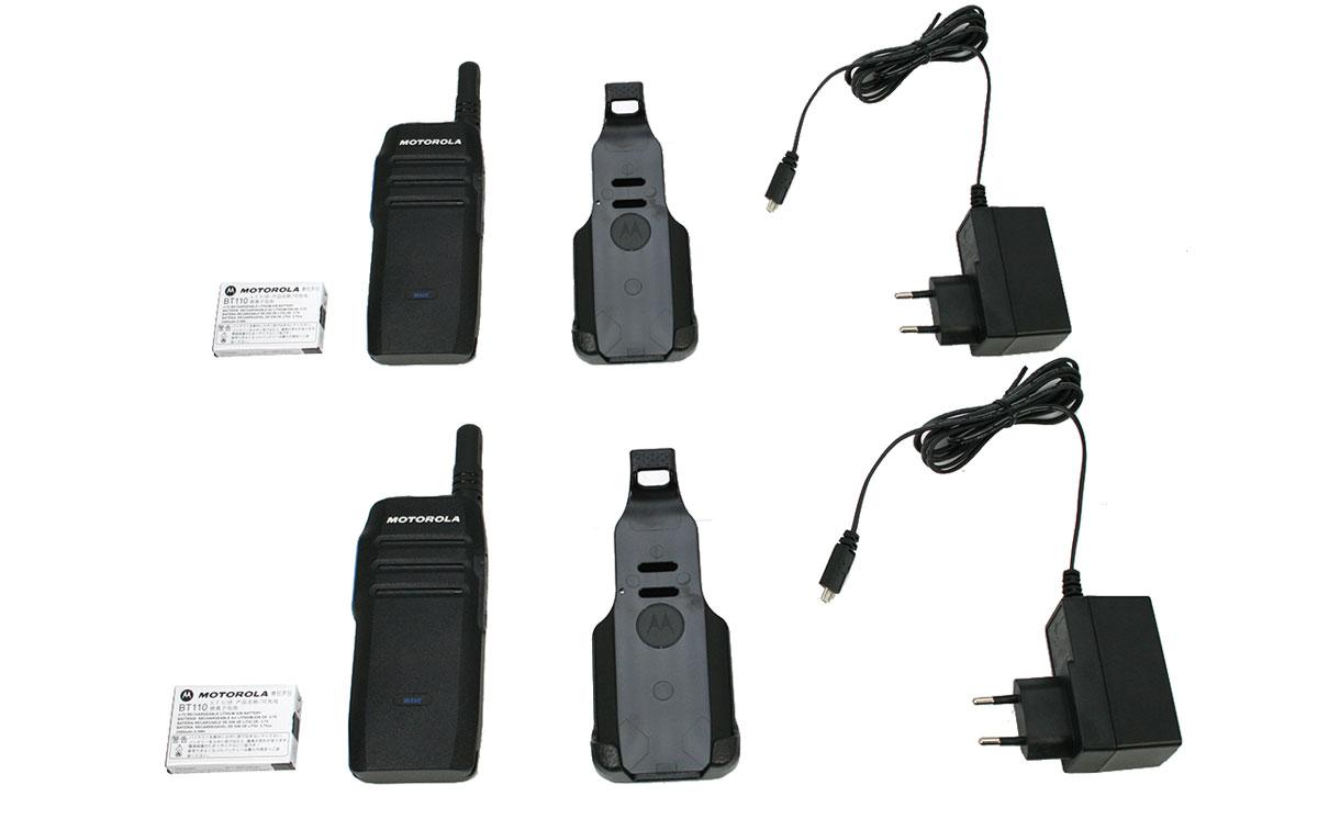 Motorola TLK-100i KIT-X2 Walkies para Red 3G/4G, Wi-Fi, LTE, kit compuesto por dos walkie talkies Motorola TLK-100i + 2 licencias.