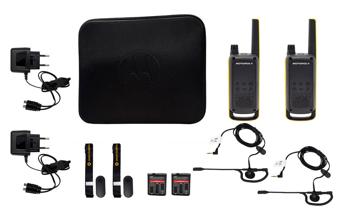MOTOROLA TLKR T82-EXTREM pareja de walkies uso libre 2 PINGANILLOS