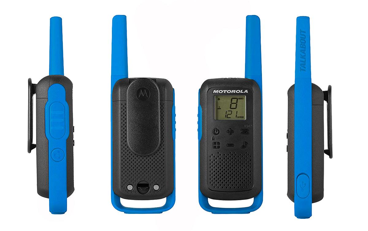 Walkies Motorola TLKR-T62 vista lateral y detras