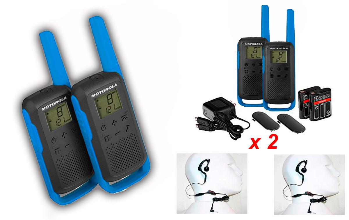 Conjunto de walkie talkies de uso libre ideales para actividades de exterior