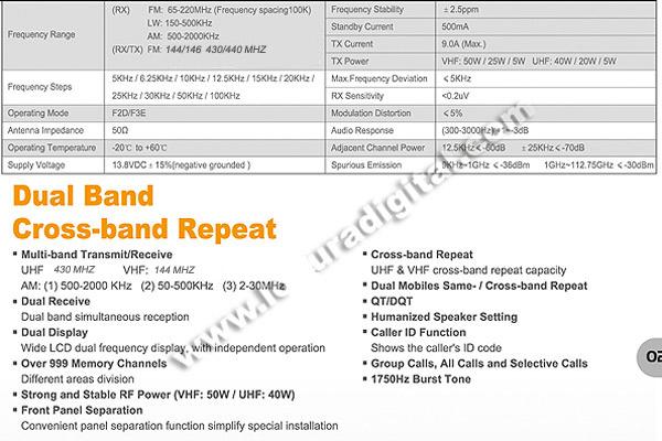 LUTHOR TLM-007 bibanda ESTAÇÃO VHF / UHF 144/430 MHz