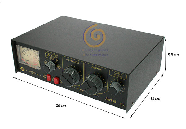 TM535 ZETAGI transmatch (antenna tuner) + gauge of 1.5 to 30 Mhz. 500 w